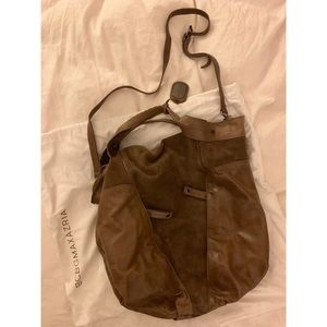 BCBGMaxAzria brownash suede/leather purse